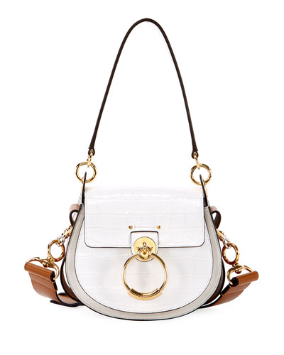 Tess Small Embossed Leather Shoulder Bag