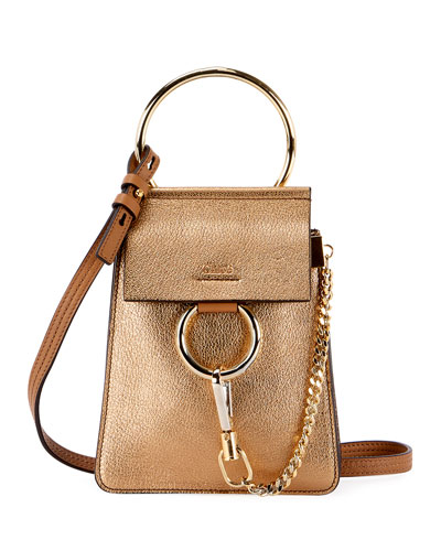 Faye Mini Metallic Leather Bracelet Bag