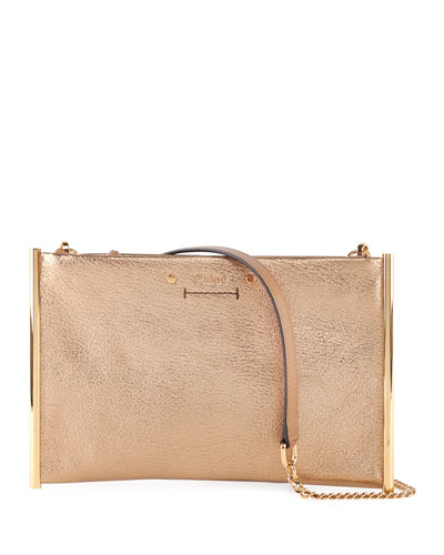 Roy Metallic Leather Crossbody Bag