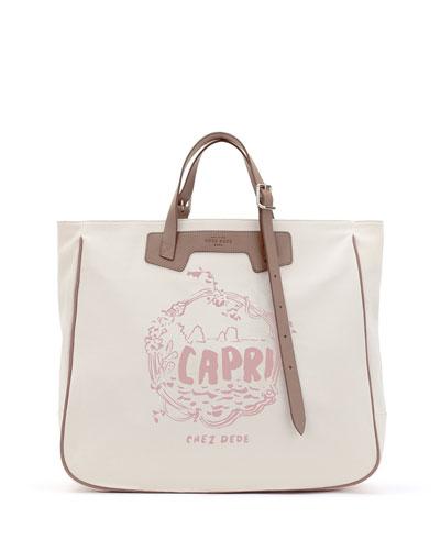 Capri Tall Canvas Tote Bag
