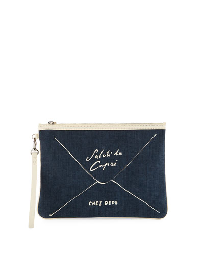 Saluti Da Capri Clutch Bag