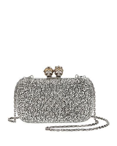 Queen & King Skull Box Clutch Bag