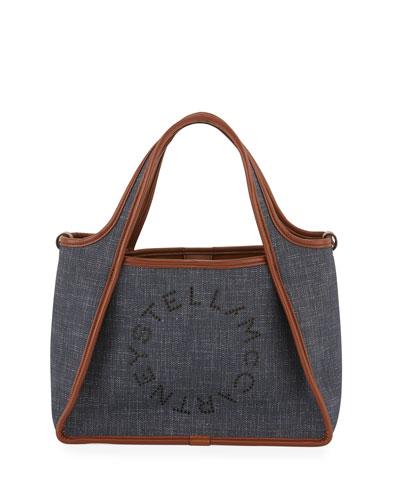 Denim Logo Crossbody Bag