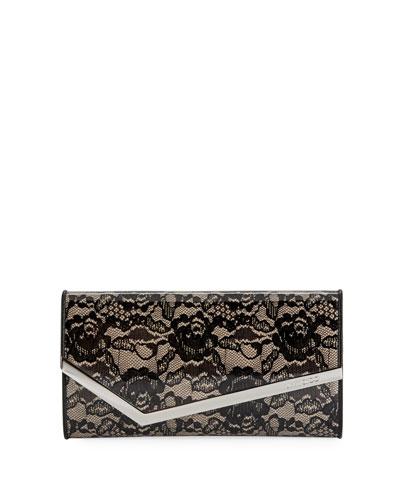 Emmie Floral Lace Clutch Bag
