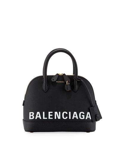 Ville Small AJ Top-Handle Bag with Logo Graffiti
