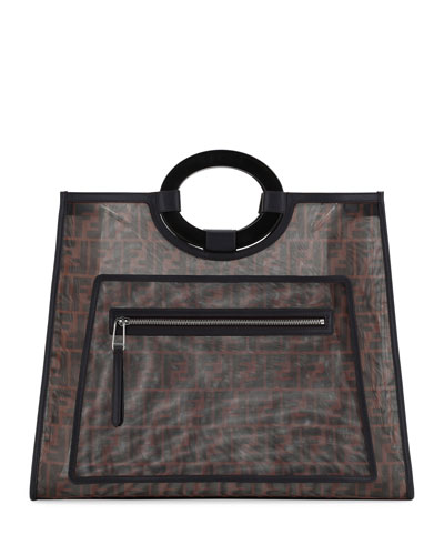 Runaway Large FF Mesh Shopping Tote Bag
