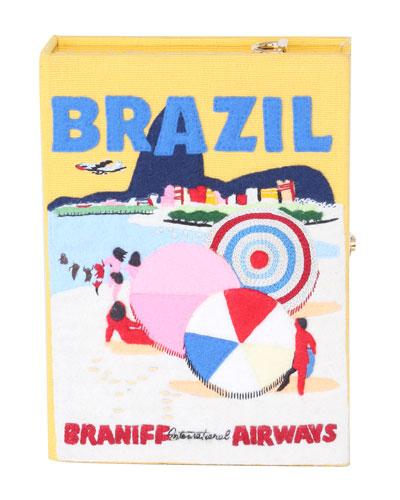 Voyages Brazil Book Clutch Bag
