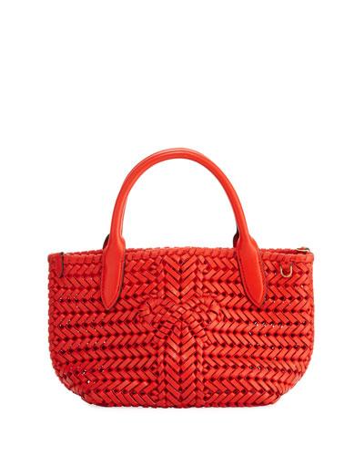 The Neeson Mini Woven Leather Tote Bag