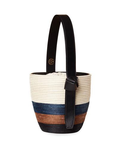 Tri-Tone Lunch Pail Bucket Bag