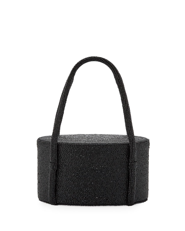 POP & SUKI Lolita Beaded Framed Handbag in Black