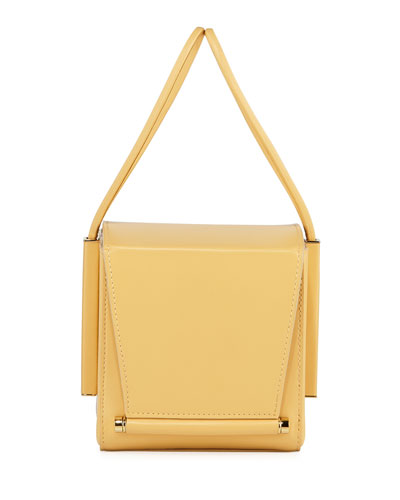 Smooth Leather Box Bag, Yellow
