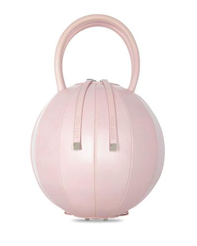 f59fdcb361 PILO Leather Circle Top Handle Bag