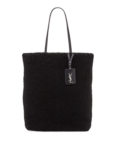 Shearling Fur Shoulder Tote Bag