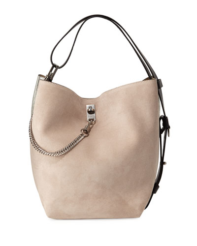 GV Medium Suede Bucket Bag