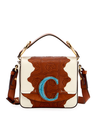 C Mini Patchwork Shoulder Bag