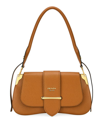 1b02cf6f563e Sidonie Saffiano Large Shoulder Bag Quick Look. Prada