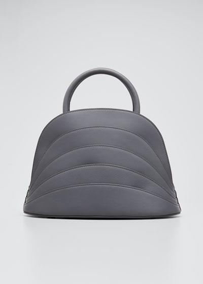 Millefoglie J Layered Top Handle Bag, Gray