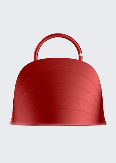Millefoglie J Layered Top Handle Bag, Red