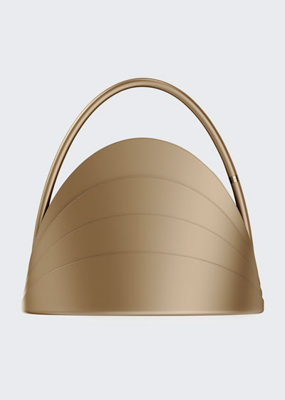 Millefoglie Layered Top-Handle Bag, Brown