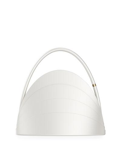 Millefoglie Layered Top-Handle Bag, White