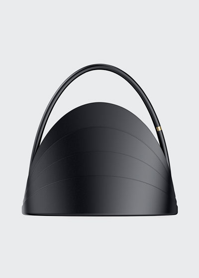 Millefoglie Layered Top-Handle Bag, Black
