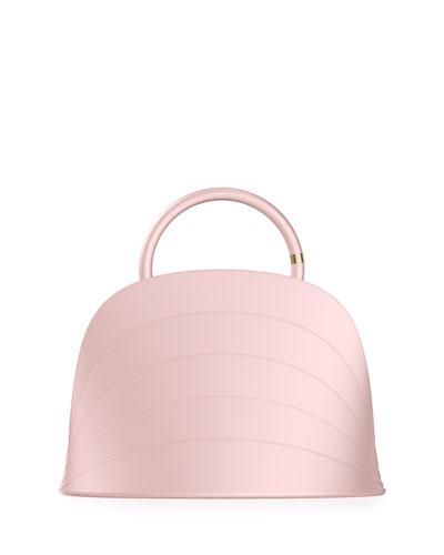Millefoglie J Layered Top Handle Bag, Pink
