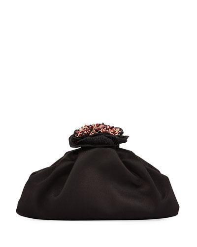 Carambola Satin Clutch Bag