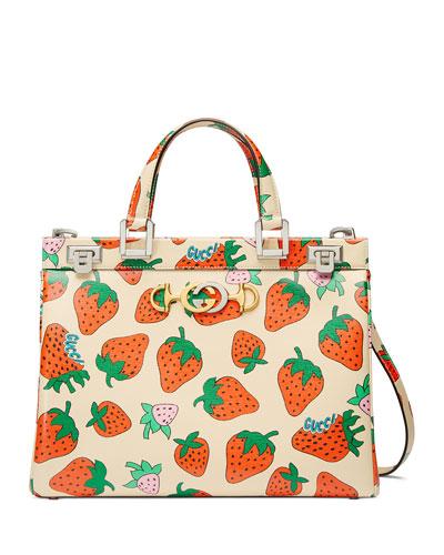 Borghese Medium Strawberry Top Handle Bag