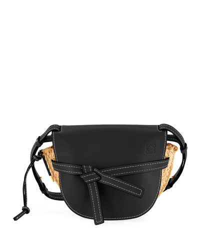 Gate Small Raffia Shoulder Bag