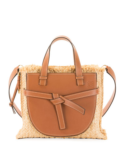 ae28cac033dd Gate Small Raffia Top-Handle Tote Bag