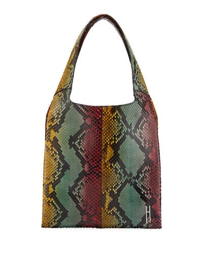 Grand Shopper Python Tote Bag, Multi