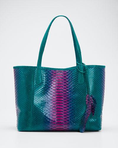 Erika Iridescent Python Tote Bag