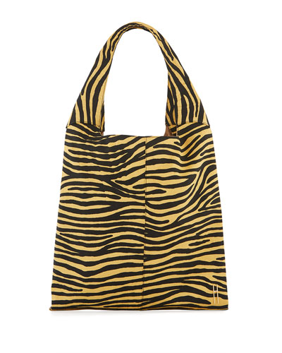 Grand Shopper Tote Bag, Zebra