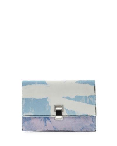 Small Denim Tie-Dye Lunch Shoulder Bag 823e38eb94b