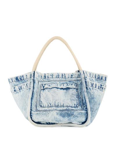 Large Denim Tote Bag