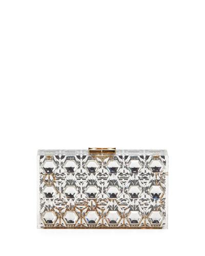 Transparent Crystal Clutch Bag