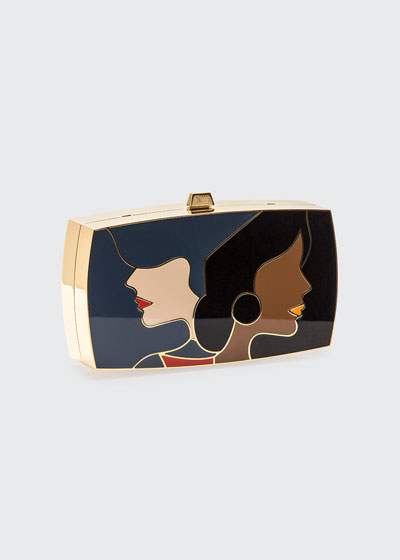 The First Encounter Minaudiere Clutch Bag