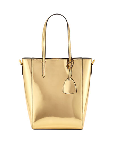 Metallic Patent Mini Modern Tote Bag