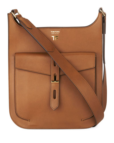 Hollywood Medium Grain Leather Crossbody Bag