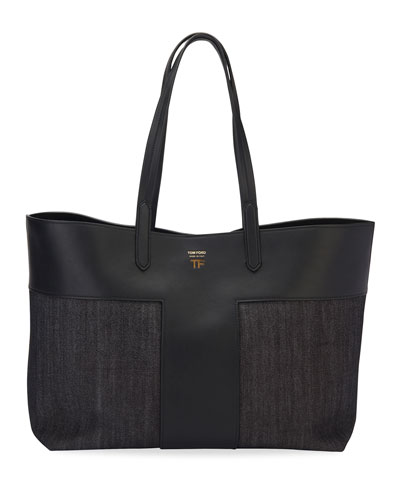 Medium Denim Tote Bag