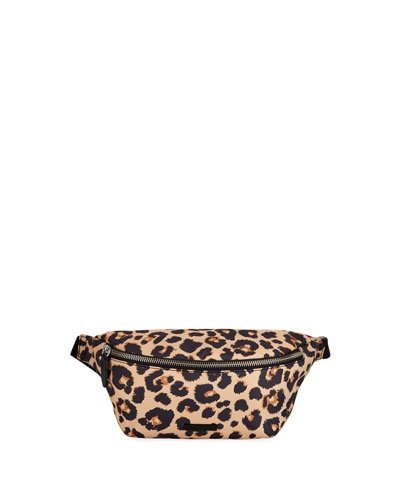Sophie Leopard Nylon Belt Bag