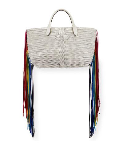 The Neeson Large Tote Bag w/ Rainbow Fringe