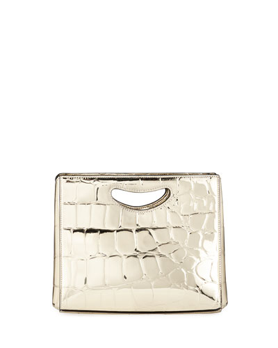 1712 Basket Metallic Clutch Bag
