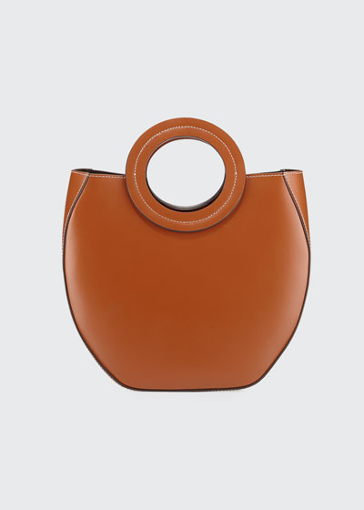 Frida Ring-Handle PVC/Leather Tote Bag