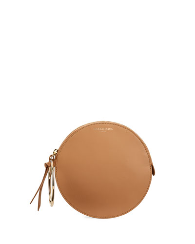 Round Leather Small Bracelet Bag