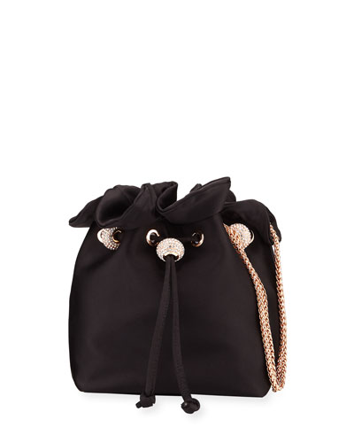 Emmie Satin Drawstring Shoulder Bag