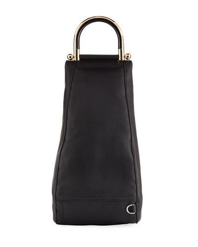 Wedge Leather Shoulder Bag