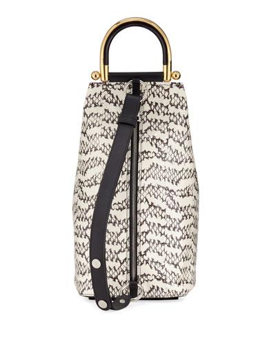 Wedge Medium Snakeskin Shoulder Bag