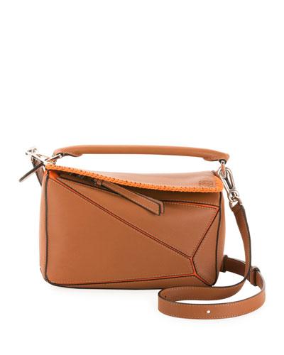 x Paula's Ibiza Puzzle Whipstitch Small Satchel Bag