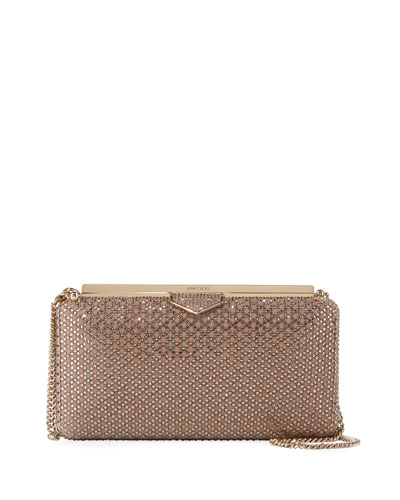Ellipse Embellished Suede Clutch Bag